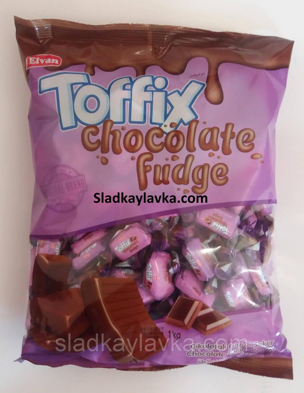 Жувальна цукерка Toffix Chocolate Fudge 1000 гр (Elvan)