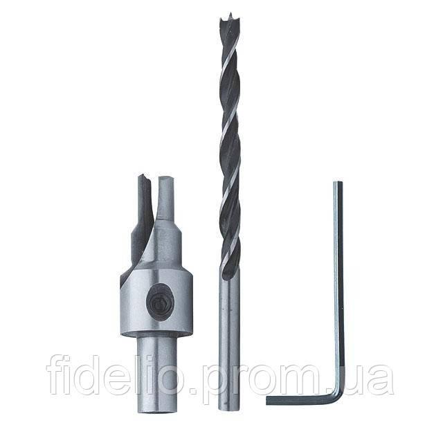 Сверло конфирматное 4,0 / 6,3 мм INTERTOOL SD-0240