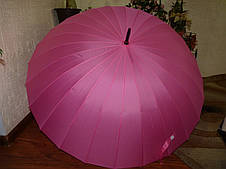 Купить семейный зонт трость в Днепре на 24 спицы розовый