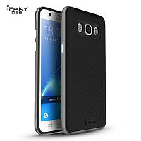 TPU Силикон iPaky TPU+PC для Samsung J510 / Galaxy J5 (2016) Black / Gray (черный / серый)