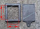 Засувка пічна чавунна велика (260х290 мм) заслінка, шубер, димар, фото 2