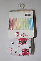 Детские хлопковые колготы для девочек ТМ Кребо, Польша р-р 62-86