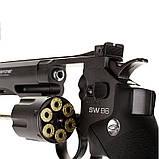 Пневматический револьвер Gletcher SW B6 Smith & Wesson , фото 5