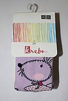 Детские хлопковые колготы для девочек ТМ Кребо, Польша р-р 80-86