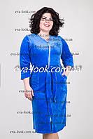 Домашний велюровый женский халат