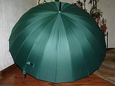 Купить семейный зонт трость в Днепре на 24 спицы зелёный
