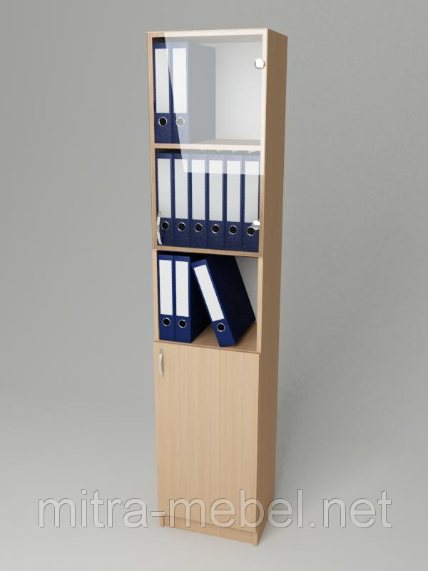 Шкаф для документов со стеклом К-130