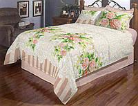 Красивое постельное белье в розы бязь двуспальное