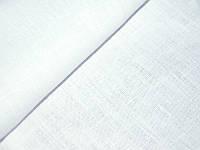 Ткань льняная  белая 190 пл. 150 ш.