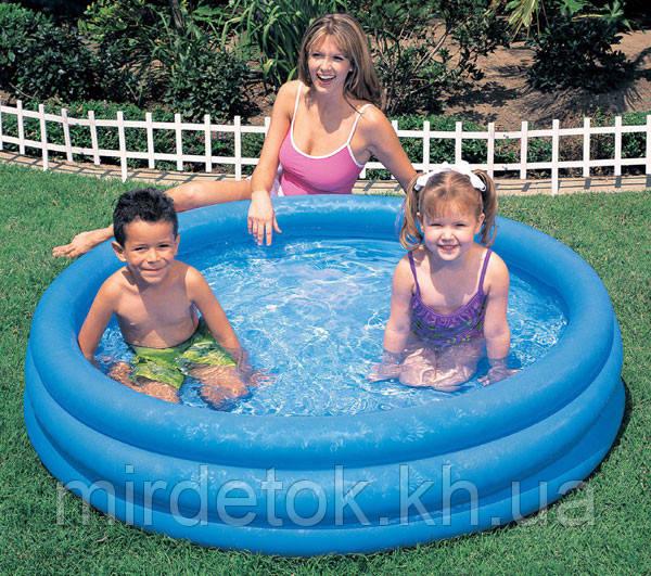 Дитячий надувний басейн Intex 58426 Кришталевий