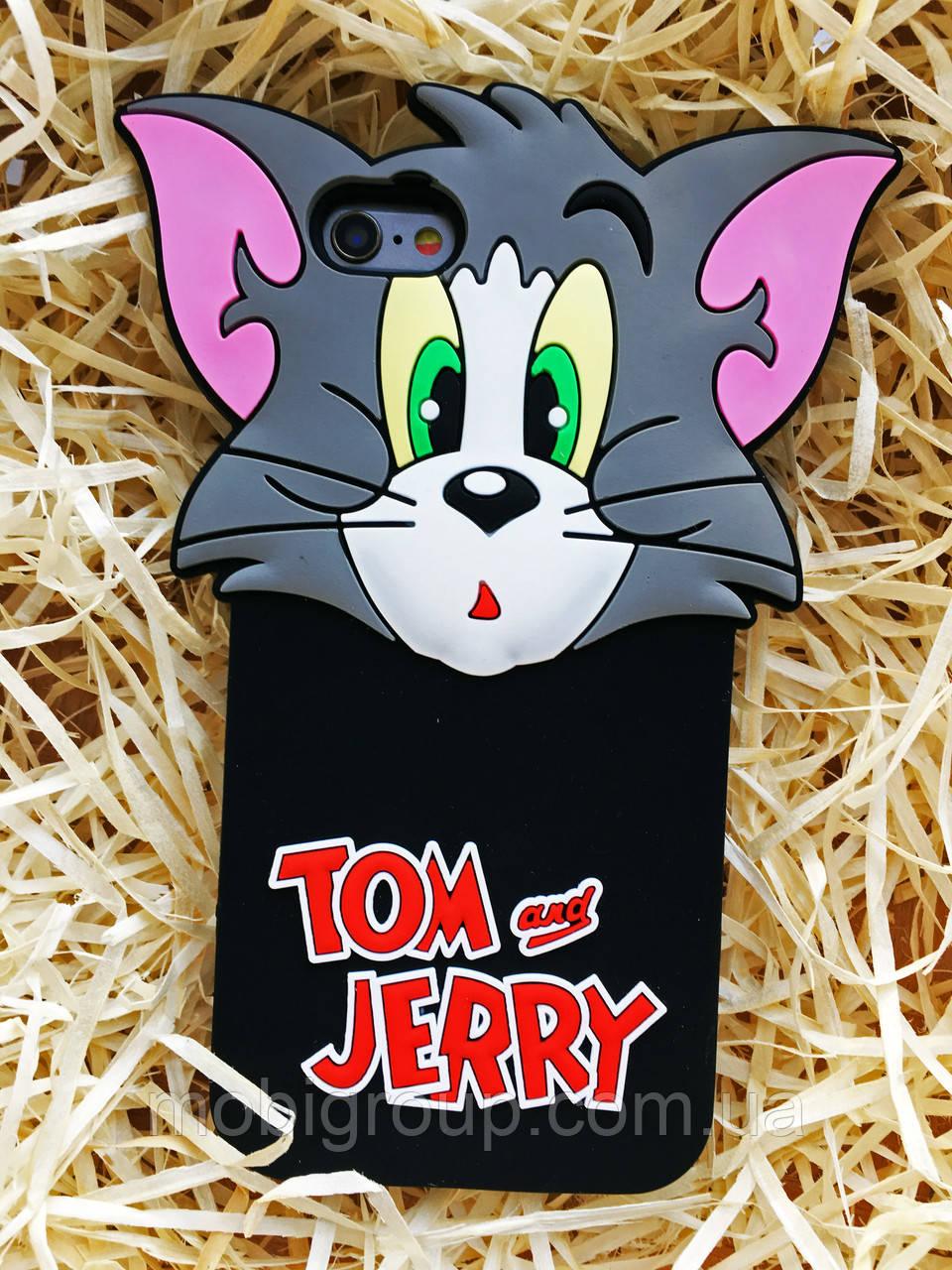 Силиконовый чехол Том/Джерри iPhone 6S/6, Тom