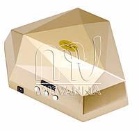 Профессиональная многофункциональная УФ лампа UV+LED DORAME S2 (на две руки) 60 Вт с сенсорами (gold)