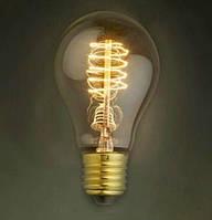 Лампа Эдисона, ретро лампа каплеобразная, винтажная лампа накаливания, спиральная нить, модель А19/А60
