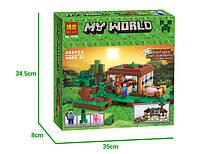 """Конструктор Bela My World """"Первая ночь"""" 10176 (аналог LEGO Minecraft 21115) 408 деталей"""