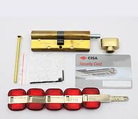 Cisa RS3 S 90мм (45х45) ключ/тумблер Латунь