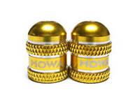 Колпачки на ниппеля Mowa (Schrader) золотые