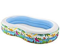 Бассейн для детей и взрослых intex 56490 | размеры 262x160x46