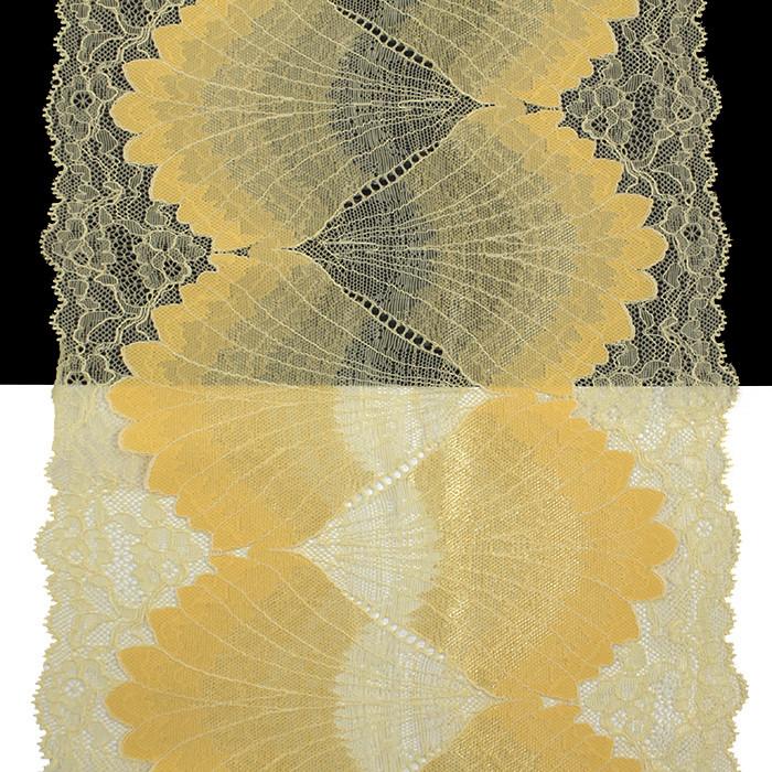 Кружево Франция арт. 405 желтый, 22 см.