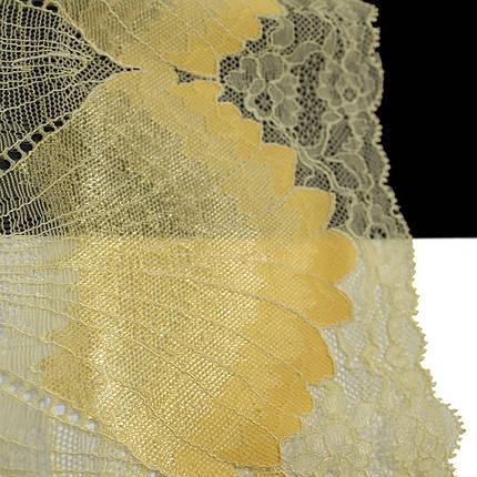 Кружево Франция арт. 405 желтый, 22 см., фото 2