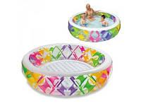 Детский надувной бассейн интекс большой