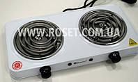 Электрическая плита спиральная - Domotec MS-5802 1000W (2 канфорки), фото 1