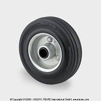 Колесо сталь\черная резина 125мм