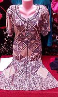 Женский домашний легкий халат с коротким рукавом - Артикул 141-51