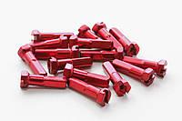 Ниппеля для спиц Pillar Racing - Алюминиевые - Красные