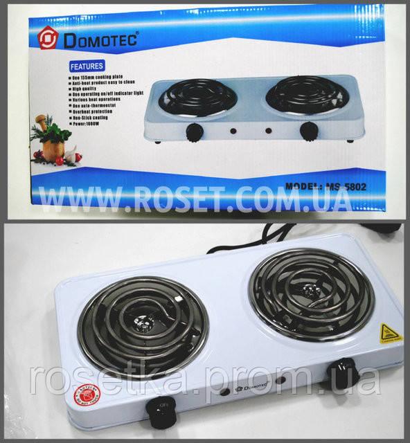 Электрическая спиральная плитка Domotec MS-5802 1000W