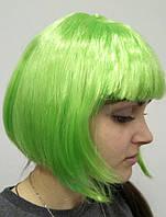 Парик Каре зеленый из искусственных волос.