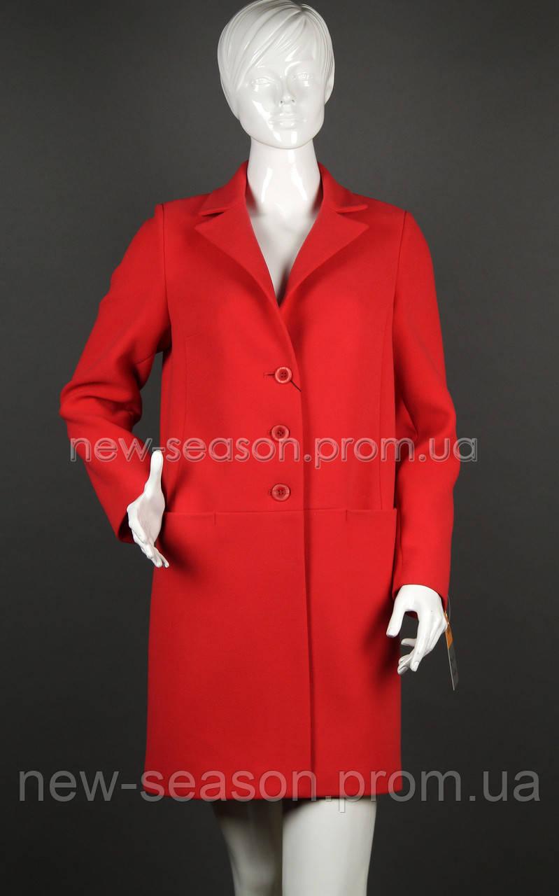 Пальто кашемировое Sergio Cotti 2-472 красное