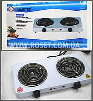 Електрична кухонна плита спіральна - Domotec MS-5802 1000W (2 канфорки)