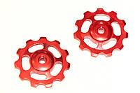 Ролики для заднего переключателя ANTS, красные, 11T