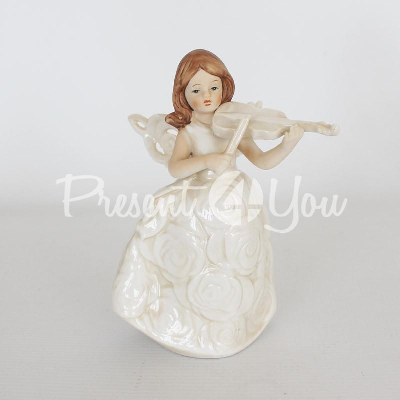 Фигурка «Ангел со скрипкой», h-14,5 см