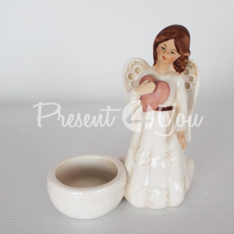 Подсвечник на одну свечку «Ангел», h-12 см