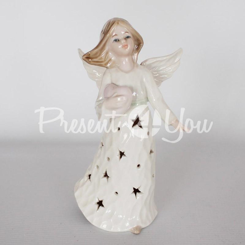 Светильник «Ангел с сердечком», h-19 см
