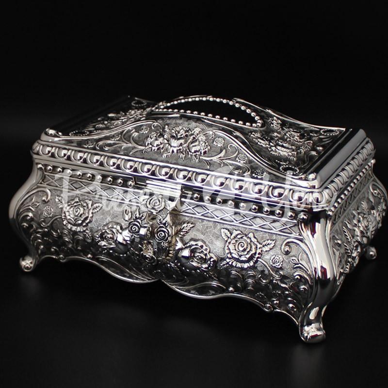 Шкатулка для украшений, посеребрение «Королевская», 15х28х19 см