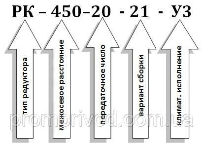 Условное обозначение редуктора РК-450