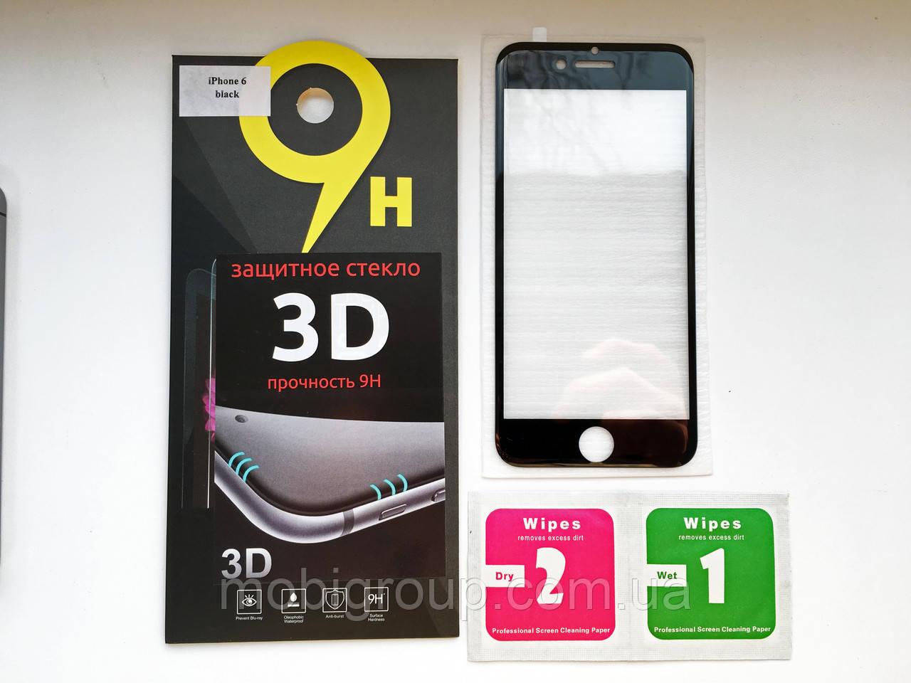 Стекло защитное 5D iPhone 6S/6, Black
