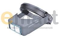 Наголовная лупа 1.5X 2X 2.5X 3.5X увеличения со стеклянными линзами Magnifier 81007-B