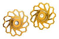 Ролики для заднего переключателя Lixada, золотые, 11T