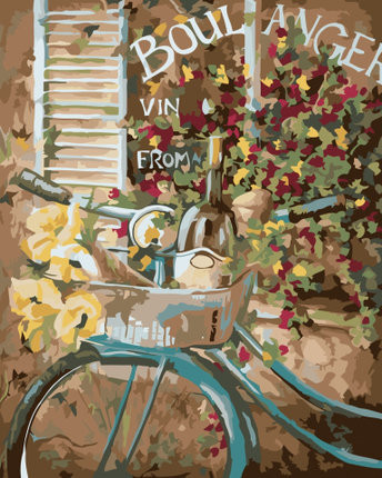 """Картина по цифрам Идейка """"Французский велосипед"""" (KH2045) 40 х 50 см"""