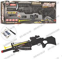 Ружье с арбалетом H7A, 2 в 1, 83 см, водяные пули, стрела с присоской, лазер, на батарейках, в коробке