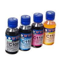 Комплект чернил WWM Canon C10/BP, C11/C, C11/M, C11/Y, 100 мл (C10/11SET4-2)