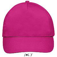 Бейсболка, кепка фуксия SOL'S SUNNY, Франция, 18 цветов, рекламные под нанесение логотипа