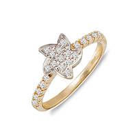 Золотое кольцо с бриллиантами 0,54 карат