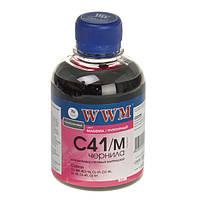 Чернила WWM Canon CL-31/38/41/51, CLI-8M/36, Magenta, 200 г (C41/M)