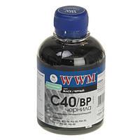 Чернила WWM Canon PG-37/40/50, PGI-5Bk, BCI-15, Black Pigment, 200 г (C40/BP), краска для принтера