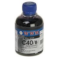 Чернила WWM Canon PG-37/40/50, PGI-5Bk, BCI-15, Black, 200 г (C40/B), краска для принтера