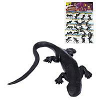 Лизун ящерица чёрная на планшете, PR613